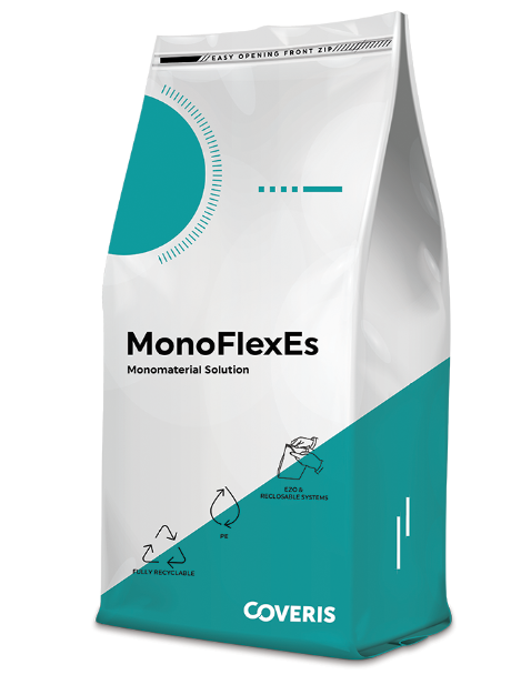 Coveris' MonoFlex range is available as mono-PE or mono-PP single-substrate laminates for eased recycling.