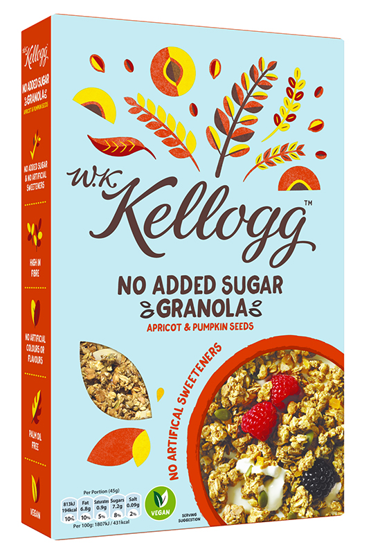 Kellogg's No Sugar Added Granola