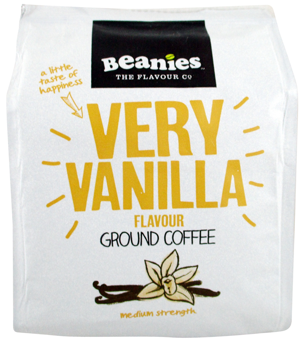 72fa587b537 Beanies Very Vanilla Flavored Ground Coffee (South Africa). A little taste  of happiness with this vanilla flavored ground coffee.